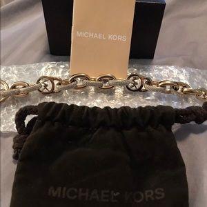 MICHAEL KORS Rose Gold-Tone Chain Bracelet
